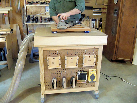Downdraft Sanding Table. Photo courtesy of Woodcademy.com